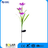 Solar Powered LED Stake luz con flores de lirio