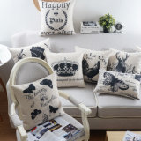 O linho do algodão imprimiu coxins da cadeira de 18 polegadas para o sofá