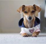 中心パッチおよび中心プリントを持つキャンデーの中心犬Hoodie