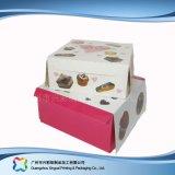 Het leuke Verpakkende Vakje van het Document van het Karton voor de Cake van het Voedsel (xc-fbk-029A)