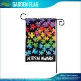 De gebreide Vlag van de Tuin van de Voorlichting van het Autisme van de Douane van de Polyester Decoratieve (j-NF06F11006)