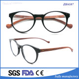 최신 판매 형식 아세테이트 프레임 혼합 나무로 되는 사원 Eyewear