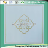Temperamento noble con las flores florecientes del oro del techo de la impresión de la capa del rodillo de Stereovision