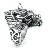De manier Gegraveerde Juwelen van de Ringen van de Mens van het Roestvrij staal van het Titanium van de Wolf van de Ontwerper