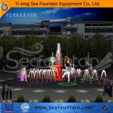 Fuente al aire libre de la escultura de la piscina del control de ordenador del conjunto de madera
