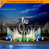 De interactieve Fontein van de Muziek met het Beeldhouwwerk van het Roestvrij staal