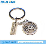 Regalo in lega di zinco su ordinazione di promozione dell'anello chiave di Keychain del metallo