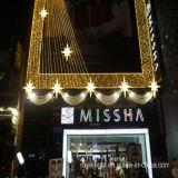 LEDの屋外の装飾のクリスマスの多彩なカーテンのネットライト