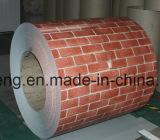 Feuille ondulée en acier galvanisée de toiture enduite d'une première couche de peinture par acier en métal