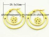 Shineme Jewelry Meilleur prix en acier inoxydable plaqué boucle d'oreille en or (ERS6896)