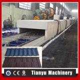 Cadena de producción de acero revestida de piedra de máquina del azulejo de material para techos