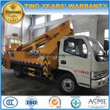 Dongfeng 15m 공중 플래트홈 머리 위 작동되는 트럭