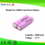 3.7V Lithium 18650 van 2500mAh Prijs de Van uitstekende kwaliteit van de Fabriek van de Batterij