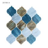 Azulejo de mosaico de cristal gris del arte de Backsplash del azulejo del subterráneo del diseño único