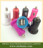 Le ce RoHS a reconnu le chargeur de véhicule du double 2 USB 5V 2.1A avec le logo estampé personnalisé pour la promotion