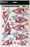 Hoja-Impresión de Exiqusite y primeros Glittering del arte de papel para la decoración