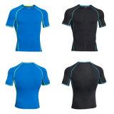 Camisetas secas del ajuste del deporte de la aptitud de la camiseta del desgaste de la gimnasia del OEM