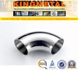Type court ajustage de précision du coude BS4825 90 de pipe sanitaire inoxidable