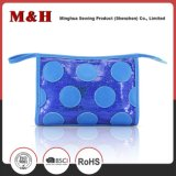 Impermeável Nylon Blue Spotted PU Promotion Cosmetic Bag