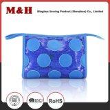 Sacchetto macchiato blu di nylon impermeabile dell'estetica di promozione dell'unità di elaborazione