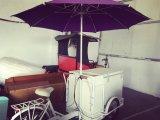ステンレス鋼フレーム販売法の移動式食糧トラックのアイスクリームのカートのホットドッグの軽食車はホットケーキを好む