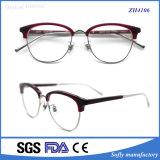 Metal Eyewear da mistura do acetato do meio frame com vidros óticos