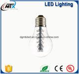 Las luces de hadas SAA A19 2W E27 del LED calientan la bombilla blanca del LED Edison