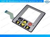 Teclado bicolor do controle do diodo emissor de luz do indicador transparente com moldura plástica