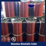 Qualitäts-freie Beispielkupfer-überzogener Aluminiumdraht CCA-Draht