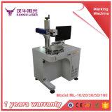 Machine d'inscription de laser de fibre de mètre et non en métal