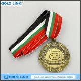 Le métal fait sur commande en laiton antique de médaille ouvre le cadeau de souvenir