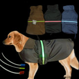 Waterproof Raincoat Safety LED Night Roupa de estimação LED Dog Jacket