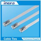 cintas plásticas de prata do aço inoxidável de 0.25mm sem o revestimento