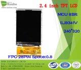 2.4 moniteur de TFT LCD de pouce 240*320 MCU, Ili9341V, 28pin avec l'écran tactile d'option