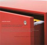 Mobília de escritório lateral do ficheiro com 4 gavetas e punho cheio do rebaixo da largura para o gabinete de armazenamento de suspensão do arquivo do tamanho de F4 Foolscap/A4