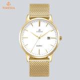 Goldkundenspezifische Firmenzeichen-Edelstahl-Quarz-Handgelenk Whatch Mens-Uhren 72860