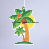 Kundenspezifisches hängendes Kokosnuss-Palmen-Papier-Raum-Erfrischungsmittel