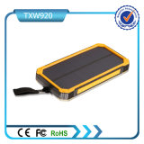 Dual USB Port Universal Ultra-Slim impermeable Portable Solar Powered teléfono celular cargador