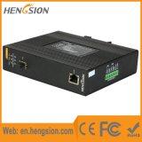 Um Ethernet de 1 gigabit e 1 interruptor de rede industrial de Nport da fibra do SFP