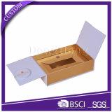 Caja hecha a mano de impresión barata llana elegante personalizada