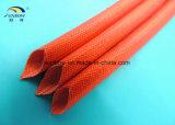 Les fils électriques ont verni gainer de fibre de verre de silicones/la chemise d'isolation en verre de fibre