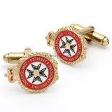 Atacado Custom Crown Design Men's Gold Metal Cufflinks