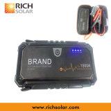 Carregador portátil impermeável do iPhone da energia da potência solar com luz do diodo emissor de luz