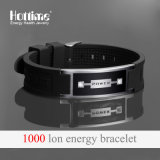 Bracelet de silicone populaire pour unisex avec bande de caoutchouc ionique négatif
