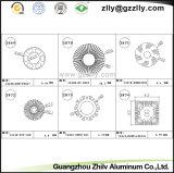 광저우 Zhilv CNC 기계로 가공 알루미늄 단면도 방열기