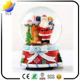 クリスマスのギフトの考えの樹脂の手仕事の雪のクリスタル・ボールのオルゴール