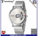 Reloj 2016 de la venta de la dial de la oferta del cuarzo del cronógrafo del asunto del Mens del reloj Yxl-367 de los hombres calientes del acero inoxidable