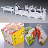 Maquinaria inferior do dobrador de Gluer do fechamento para a caixa do pacote do cartão do alimento