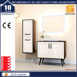 Санитарный шкаф мебели ванной комнаты MDF изделий с зеркалом СИД