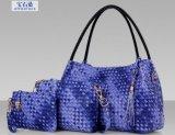 PU-Leder gesponnener Three-Piece Handtaschen-Großverkauf (BDMC172)